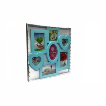 Seven Frame With Heart and Oval Design Collage Picture Frame (Blue) - picture 3