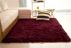 Shaggy Anti Skid Carpets Rugs Floor Mat Cover 80120cm Claret Red