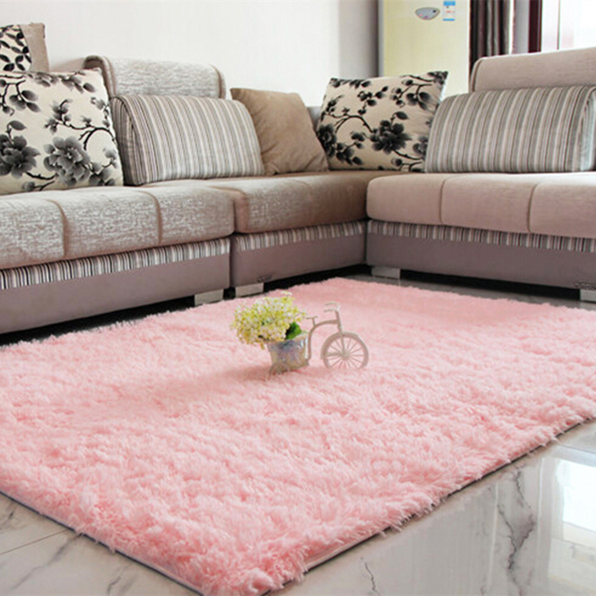 Fluffy Shaggy Area Rug Dining Carpet Comfy Floor Mat 80X50CM 7Color. Source .