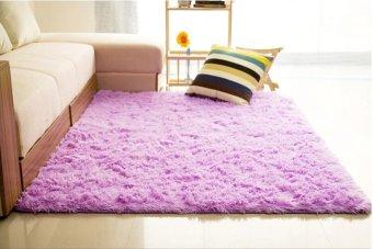 Shaggy Anti-skid Carpets Rugs Floor Mat/Cover 80*120cm Purple