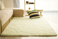 Shaggy Anti Skid Carpets Rugs Floor Mat Cover 80x120cm Creamy White