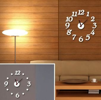 Shishang living room bedroom library Bizhi stickers the clock