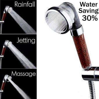 Showerheads, Negative Ionic Shower Heads Turbocharged Pressure Filtered Handheld 30% Water Saving Purifiers Water Remove Chlorine with Energy Ball Filtration for Fixing Dry Skin & Hair - intl