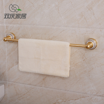 Shuangqing punched bathroom Single Rod waterproof towel rack