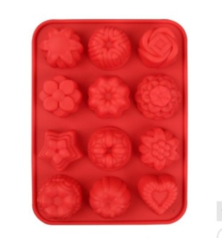 Silicone Flower Jelly Mold High Temperature Resistant Pudding Chocolate Hard Candy Cake Mold - intl