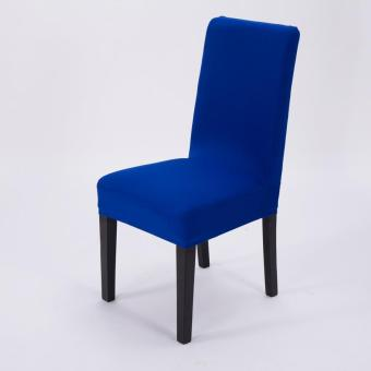 Simple Plain Elastic Dining Chair Cover - 3