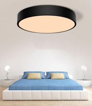 Simple Style Ceiling Lamps Living Room Bedroom Balcony CorridorsEnergy-Saving LED Diameter 23cm LED Warm Light (Black) - 2