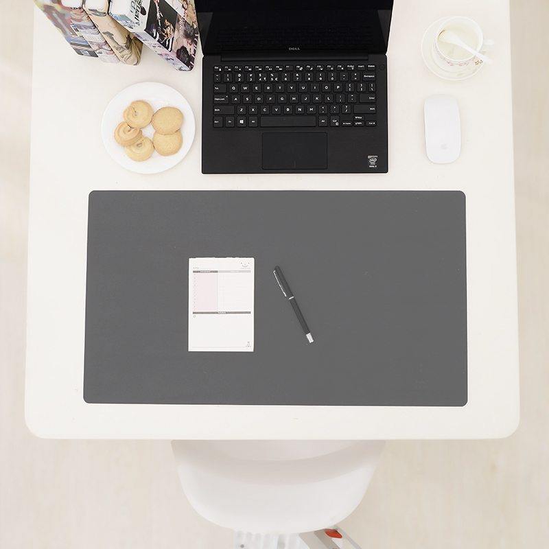 Simple Waterproof Non Slip Desk Mat Dark Gray Lazada Ph