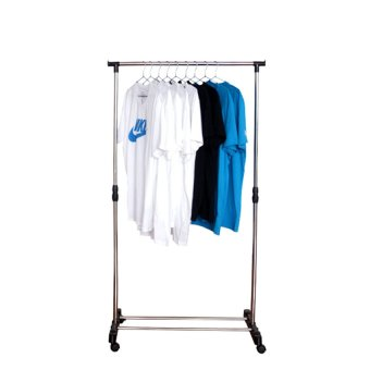 Single-Pole Stainless Steel Clothes Rack