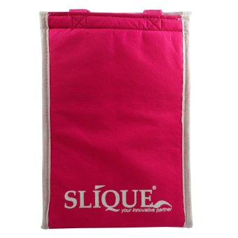 Slique SLQ-LK2821-PK Set of 3 Rectangular Glass Food Container830ml-Pink with Free Thermal Bag - 5
