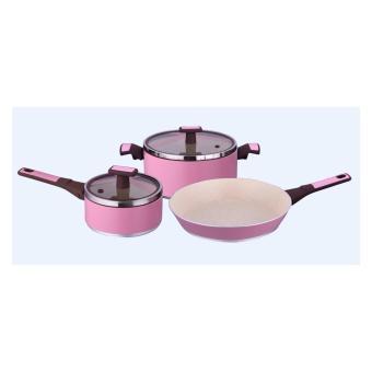 Slique SLQ-O116AK-S5-PK 5-piece Cookware(Pink)
