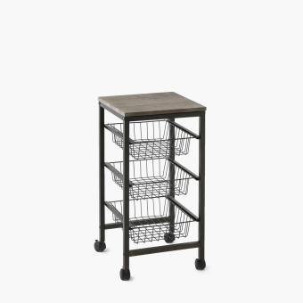 SM Home 3-Tray Storage Trolley
