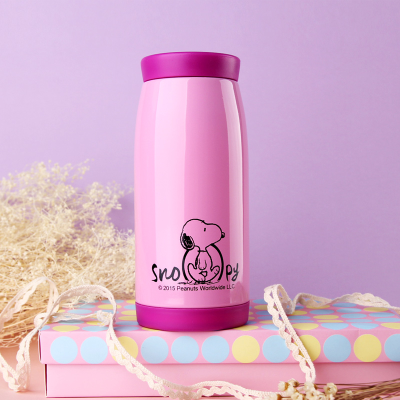 Snoopy cute Stainless Steel Small girl's cup Big Belly cup