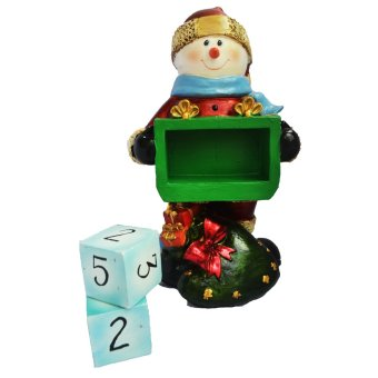 Snowman Santa Claus Countdown to Christmas with two detachable and interchangeable cubes Figurine for the Holiday - picture 2