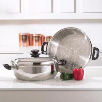 SNS High Quality Stainless Steel Steamer Pot 28-cm
