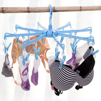 Socks underwear air dry clip folding drying rack
