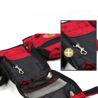 Soft Canvas Pet Dog Cat Carrier Bag Simply Front & Back Backpack - 5