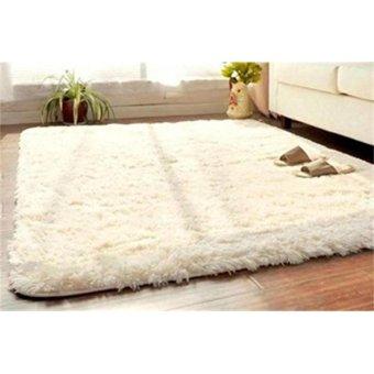 Soft Fluffy Rugs Anti Skid Shaggy Rug Dining Room Home Bedroom Carpet Floor Mat - intl ...