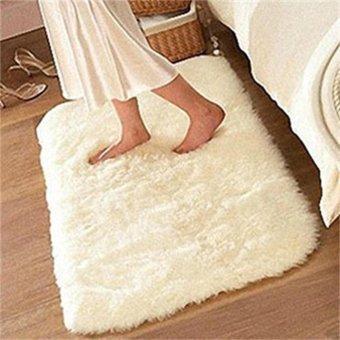 Soft Fluffy Rugs Anti Skid Shaggy Rug Dining Room Home Bedroom Carpet Floor Mat - intl - 3