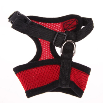 Soft Mesh Dog Harness Pet Puppy Cat Clothing Vest Red S - 2