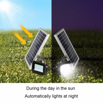 Solar Lights Solar Powered Floodlight Outdoor Garden Spotlight, IP65 Waterproof, 54LED 400Lumen for Patio, Deck, Yard, Walkway - intl - 5