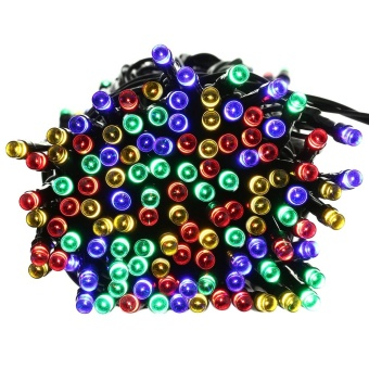 Solar Multi-color Lights 22m 200 LED Multi-color 8 Modes Solar Fairy String Lights For Outdoor Wedding Christmas Party - intl - 3