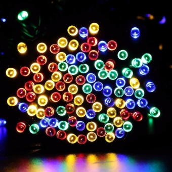Solar Multi-color Lights 22m 200 LED Multi-color 8 Modes Solar Fairy String Lights For Outdoor Wedding Christmas Party - intl - 4
