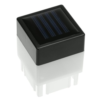 Solar Power Fence Post Pool LED Square Light for Garden Lamp White- intl