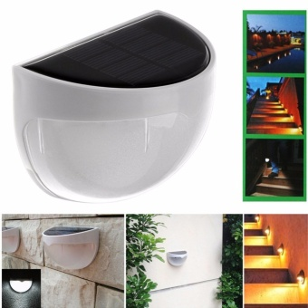 Solar Powered Wall Sensor Light Accent Lighting Waterproof 6 LED Practical Acent Lighting 10 Packs Warm White - intl - 2