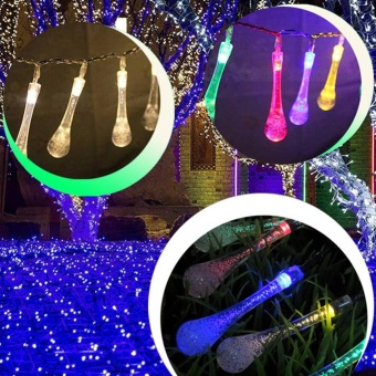 Solar String Lights, 21FT 30 LED Water Drop Fairy Lights, ChristmasSolar Rope Light for Indoor/Outdoor Garden Holiday PartyDecorations Color:Multicolor - intl - 3