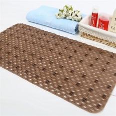 Solid Color Anti Slip PVC Bath Mat With Suction Cups Bathroom Floor Carpet  Rugs   Intl
