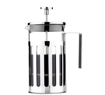 Somine Satinless Steel French Press Cafetiere Coffee Maker or TeaPress with Lid & Handle 8 Cup /1000ml - intl