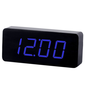 Sound environmental LED wood clock creative clock (Intl)