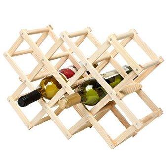 space saving foldable wooden wine rack - Wooden Wine Rack