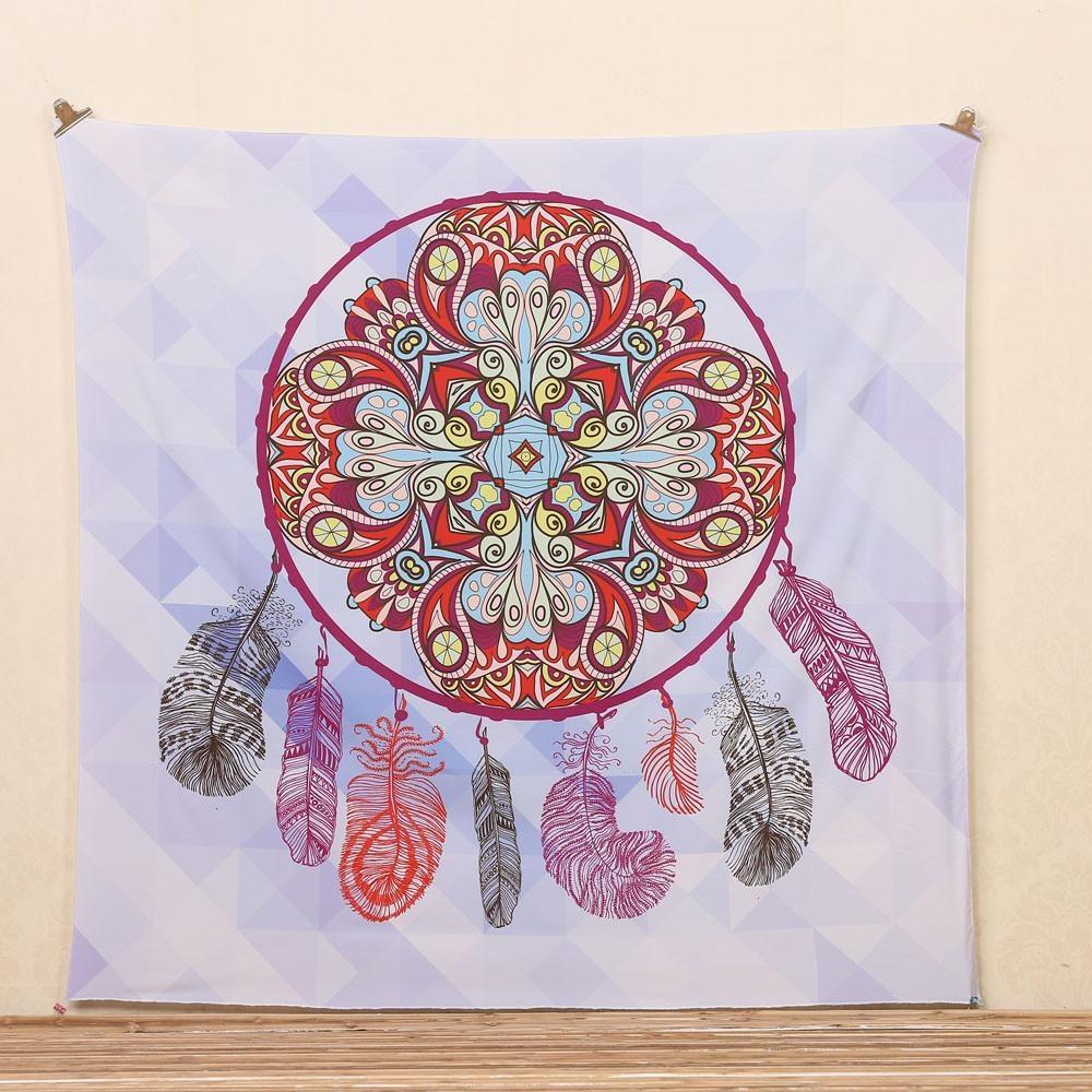 Mat Towel Towel Boho Blanket New Hotpink intl Bohemian Round Beach Tapestry Hippie Throw Yoga.