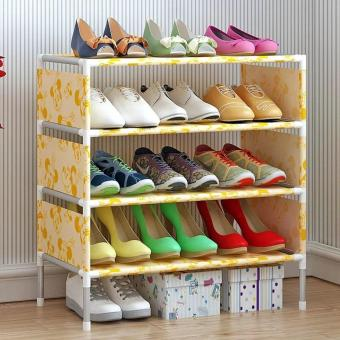 Stackable 4-Layer Shoe Rack ( Yellow)