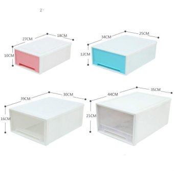 Stackable Drawer Type Transparent Plastic Storage CabinetChildren's Clothing Storage Box Toy Lockers Finishing Cabinet ShoesCabinet - 5