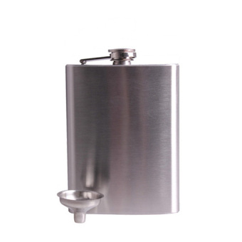Stainless 18oz Hip Drink Liquor Whisky Alcohol Flask Screw CapFunnel Cap