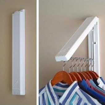 Stainless Folding Wall Hanger Retractable Clothes Indoor Hangers Towel