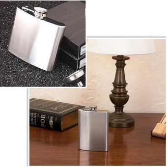 Stainless Steel 6OZ Alcohol Liquor Flask - intl - 3