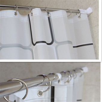 Stainless Steel Adjustable Tension Door Bathroom Shower CurtainPole Rod - 5