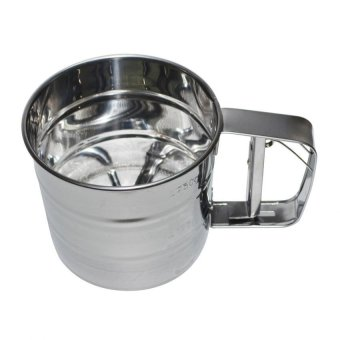 Stainless Steel Cup Shape Mesh Flour Sifter Baking Icing SugarShaker