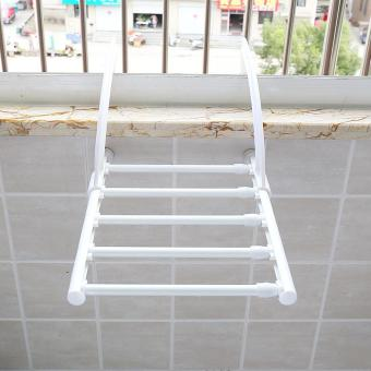 Stainless Steel Foldable Towel Hanger Retracted Balcony LaundryCloth Drying Rack Indoor Outdoor Clothes Hangers (40-70cm) - intl
