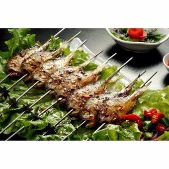 Stainless Steel Metal Shish kebob Skewers Barbecue Skewers BBQ MeatFish Vegetable Sticks - Good Bargain to Make Delicious Kebob (Packof 50, Round & Linear, 30cm) - intl - 2