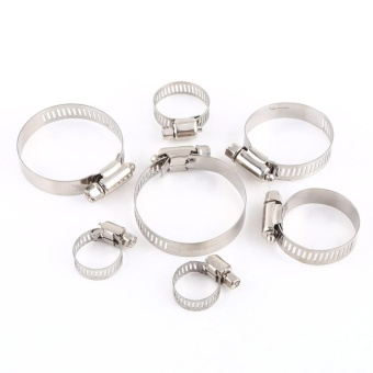 Stainless Steel Screw Band Clip Fuel Silicone Hose Tube Clamp (35mm-51mm) - intl - 5