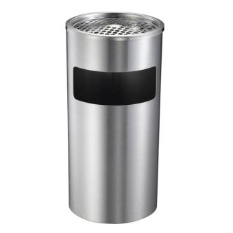 stainless trash bin with ashtray 20l
