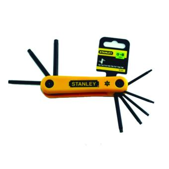 Stanley 69-263 Hex Key Set 8 Pcs Folding TORX (Yellow)