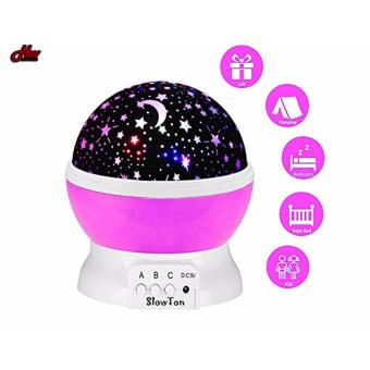 Star Projection Night Lamp (Pink)