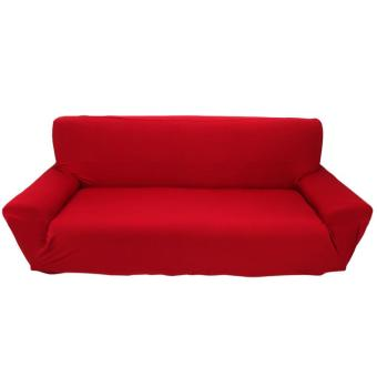 Stretch Sofa Slipcover for 3 Seater Burgundy - intl