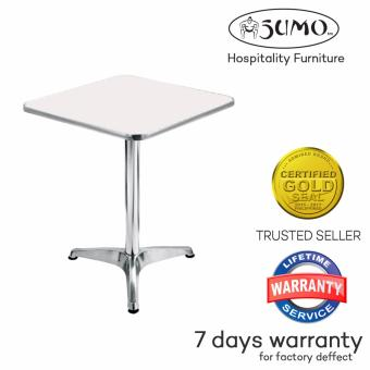 Sumo AT-60S WHT White Top Aluminum Square Pantry Table (White)